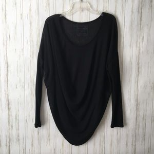 we the free • Black Draped Dolman Long Slv Top